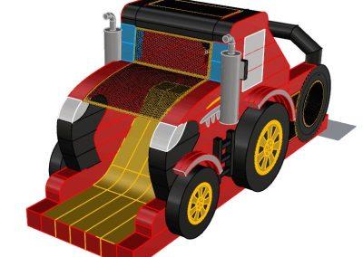 Dmuchana zjeżdżalnia Traktor