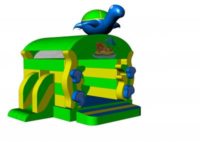 dmuchany zamek żółw 2